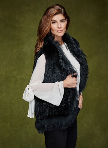 Sleeveless Fur Vest , , hi-res