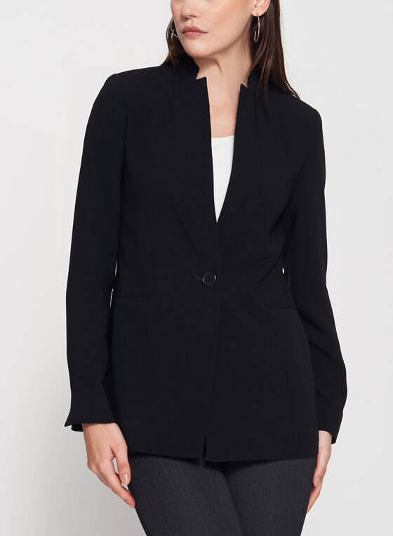 Louben - Notch Collar Blazer, Black, hi-res