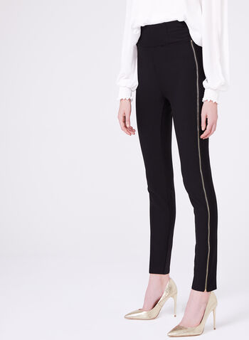 Frank Lyman - Zipper Trim Slim Leg Pants, , hi-res