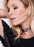 Frank Lyman - Off The Shoulder Embellished Dress, Black, hi-res
