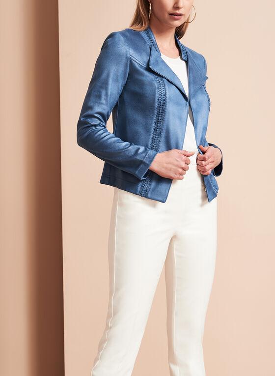 Vex - Faux Leather Cascade Jacket, Blue, hi-res