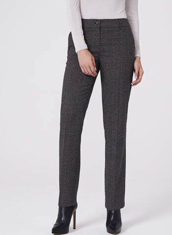 Plaid Straight Leg Pants , , hi-res