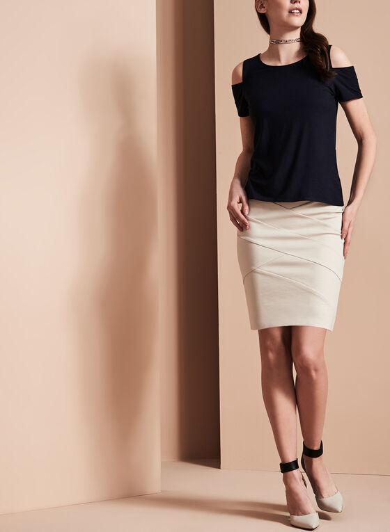 Pull-On Panelled Skirt, Grey, hi-res