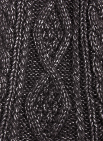 Cable Knit Scarf , , hi-res
