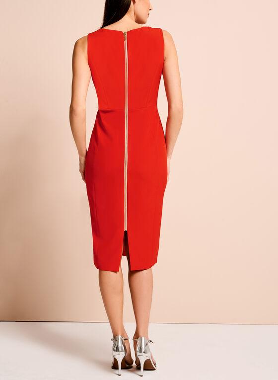 Jax Lace Up Sheath Dress, Red, hi-res