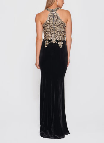 XSCAPE - Crystal Embellished Velvet Gown, , hi-res