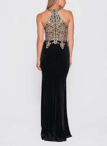 XSCAPE - Crystal Embellished Velvet Gown, , hi-res