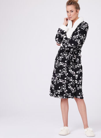 Floral Print Dressing Gown, , hi-res