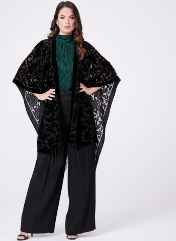 Burnout Velvet Ruana Wrap, , hi-res