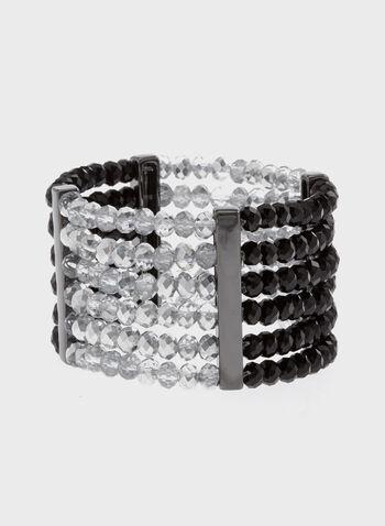 Multi-Row Stretch Beaded Bracelet, , hi-res