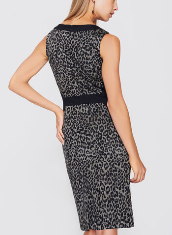 Leopard Print Sheath Dress, , hi-res