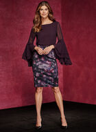 Double Layer Chiffon Blouse , Purple, hi-res