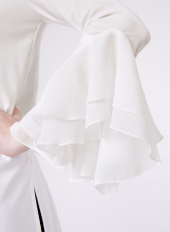 Ruffled Chiffon Jersey Top, , hi-res