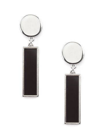 Two-Tone Formica Earrings, , hi-res