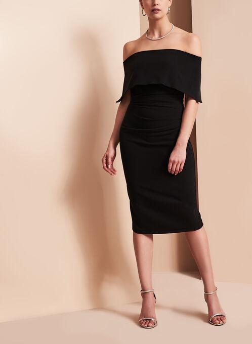 Vince Camuto Off The Shoulder Dress, Black, hi-res