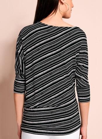 Asymmetric Stripe Print Top, , hi-res