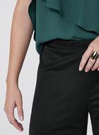 Pull-On Wide Leg Mesh Pants, Black, hi-res