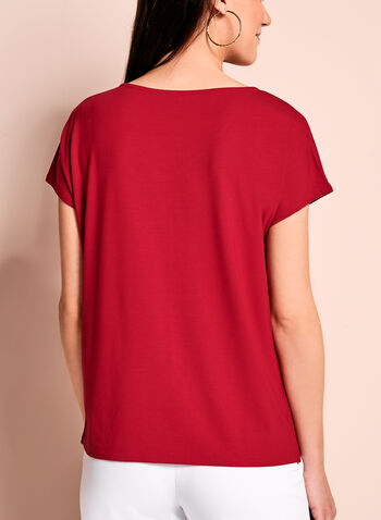 Short Sleeve V-Neck Top, , hi-res