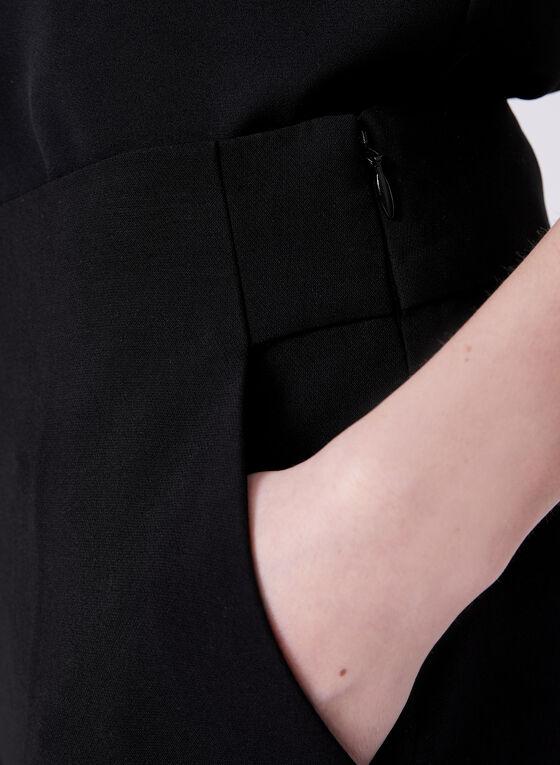 Soho Slimming Fit Wide Leg Pants, Black, hi-res