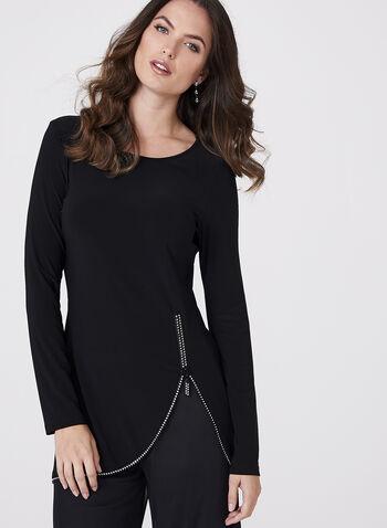Frank Lyman - Crystal Studded Zip Tunic, , hi-res