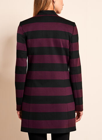 Stripe Print Ponte Jacket, , hi-res
