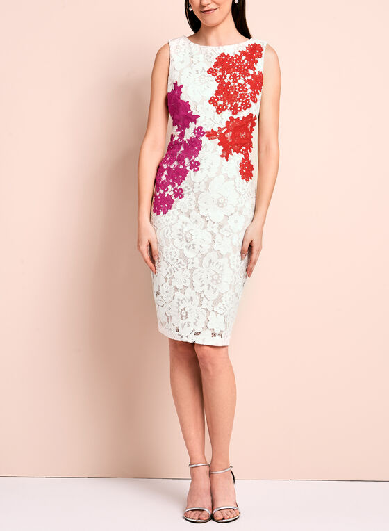 Jax Floral Lace Sheath Dress, Multi, hi-res