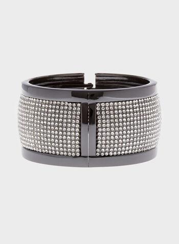 Wide Crystal Hinge Bracelet, , hi-res