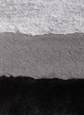 Faux Fur Colorblock Scarf, , hi-res
