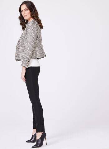 Louben - Pantalon à jambe étroite en tricot extensible, , hi-res