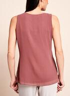 Sleeveless Asymmetric Cascade Blouse, Pink, hi-res