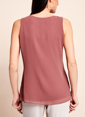 Sleeveless Asymmetric Cascade Blouse, , hi-res
