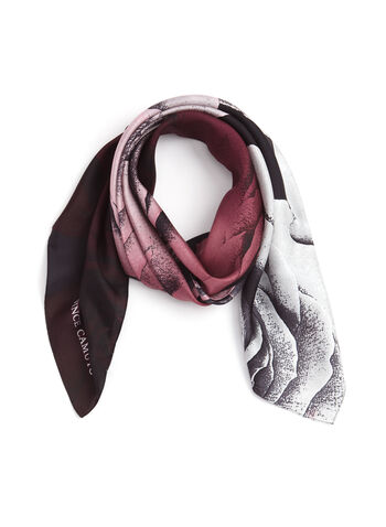 Rose Print Silk Square Scarf, , hi-res