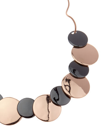 Two-Tone Disc Necklace, , hi-res