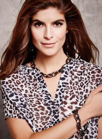 Blouse diaphane léopard, , hi-res