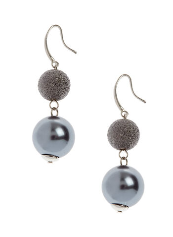 Two-Tone Dangle Earrings, , hi-res