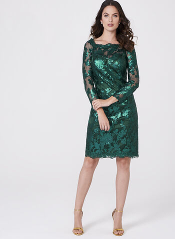 Decode 1.8 - Sequin Lace Sheath Dress, , hi-res