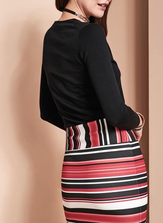 Long Sleeve V-Neck Sweater, Black, hi-res