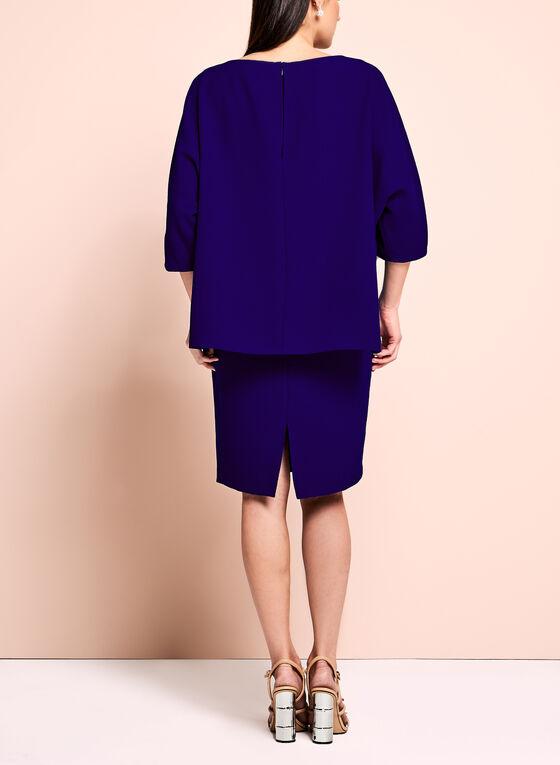 Adrianna Papell Overlay Sheath Dress, Blue, hi-res