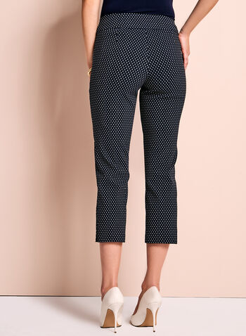 Diamond Print Capri Pants, , hi-res