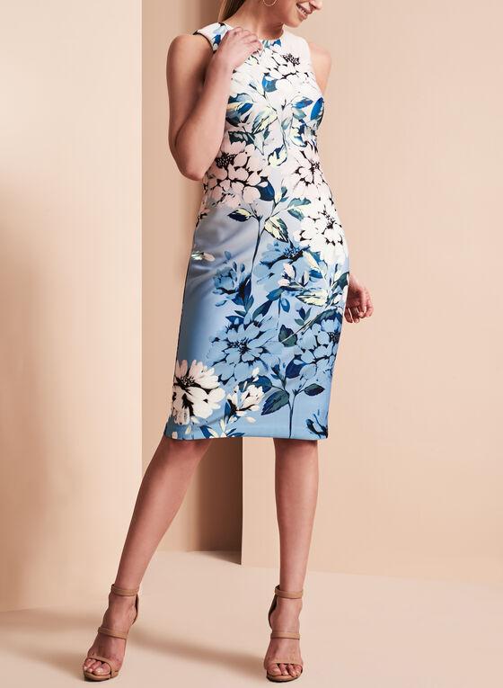 Vince Camuto Floral Print Scuba Dress, Multi, hi-res