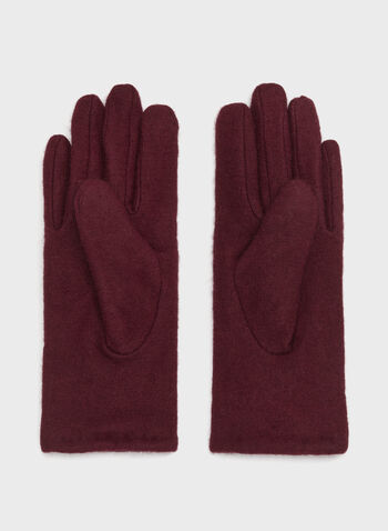 Bow Detail Wool Gloves, , hi-res