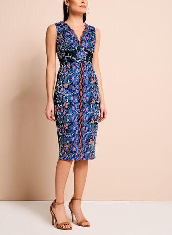 Jax Floral Embroidered Mesh Dress, , hi-res