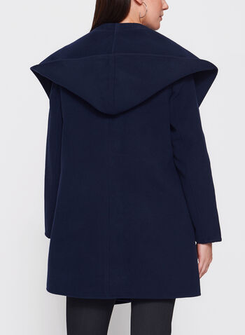 Open Front Hooded Coat , , hi-res