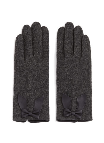Wool Gloves with Bow, , hi-res