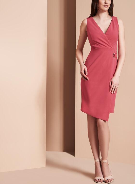 Ivanka Trump Faux Wrap Dress, Red, hi-res