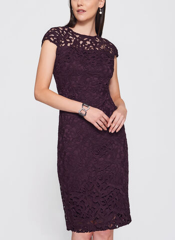 Jax - Scroll Lace Sheath Dress, , hi-res