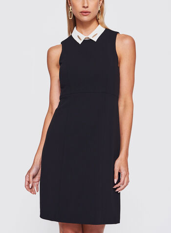 Ivanka Trump - Pointed Collar Trapeze Dress, , hi-res