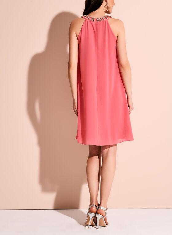 Vince Camuto Embellished Neck Dress, Pink, hi-res