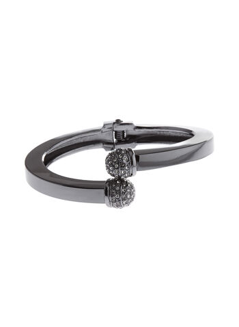 Crystal Encrusted Tip Bangle, , hi-res