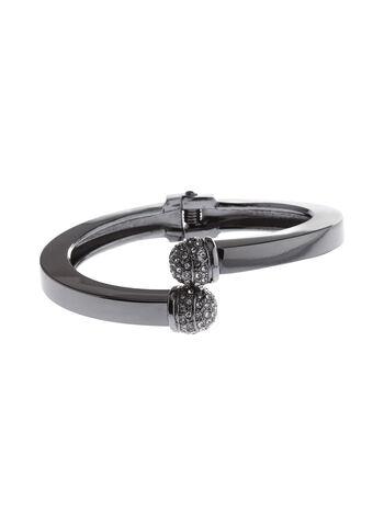 Bracelet croisé métallisé avec boule facettée, , hi-res